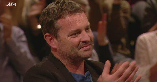 Adriaan Van den Hoof flashes a little tear away when he memento of his grandpa gets