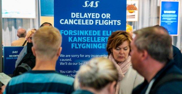 Airline SAS deletes tomorrow 587 flights due to strike pilots