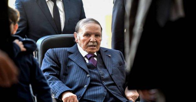 Algeria's president Bouteflika walks by
