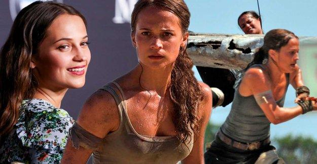 Alicia Vikander in the new Tomb raider- movie