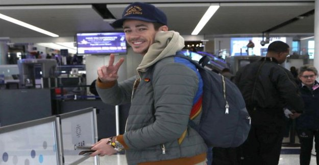 American actor Grant Gustin mess up any embarrassing moments in an airplane bathroom - that caused the big alarm