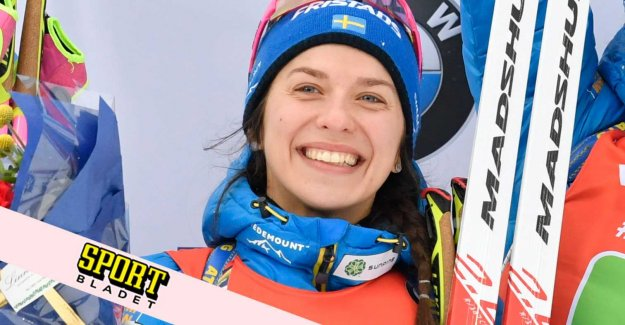 Anna Magnusson SM-bronze – in the men's relay