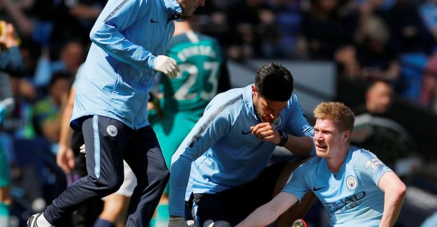 Another downer: De Bruyne is dripping again injured at City