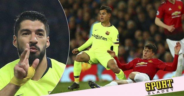 Barcelona cut United at Old Trafford.