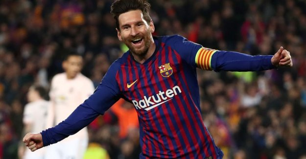 Barcelona dolt with United, matchless Messi conducts Catalans to semi-finals