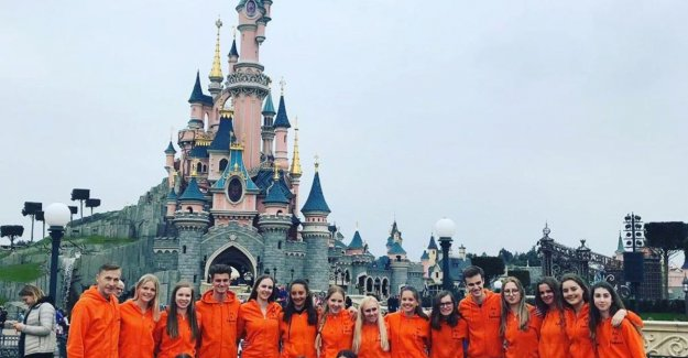 Belgian dance group playing their own show at Disneyland: We had an invitation to come back