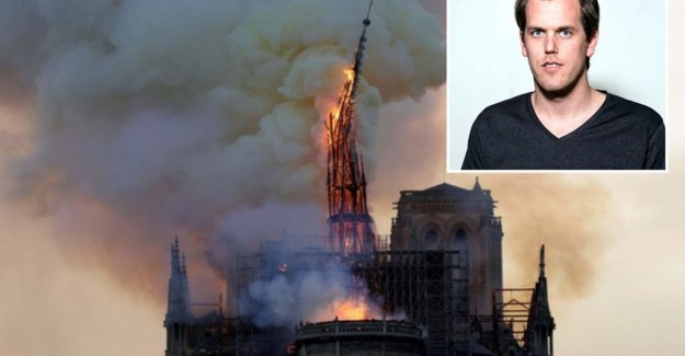 Belgian photographed collapsing spire of Notre-Dame: The picture of my life.