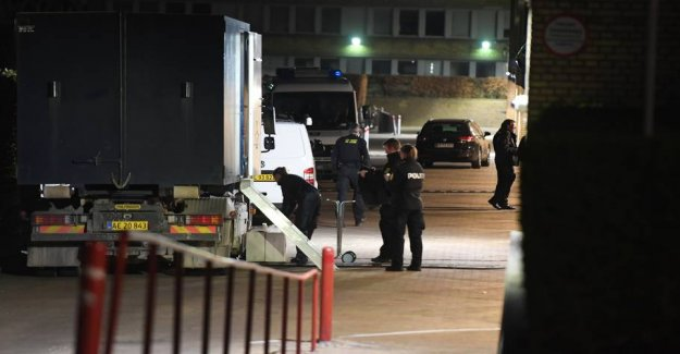 Big police action: Therefore, moved out with bomberyddere