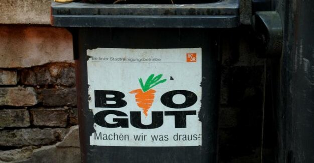 Bio-waste containers in Berlin on Monday with the waste separation is mandatory