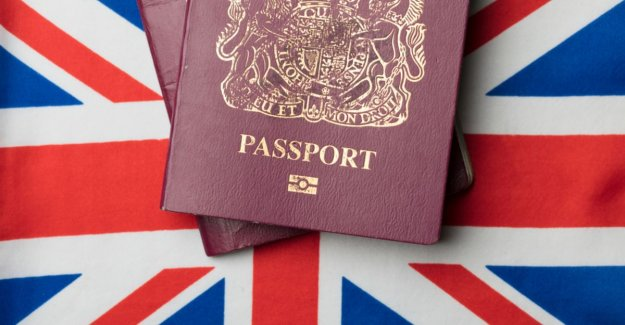 Brits give passports without a 'European Union' on it