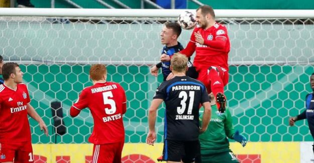 DFB-Pokal against SC Paderborn : Pierre-Michel Lasogga leads the HSV to the semi-finals
