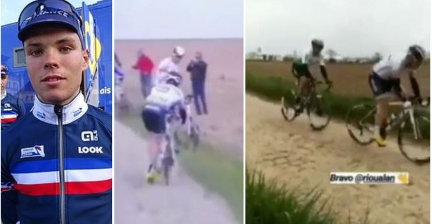 Debutant gets to finish Paris-Roubaix after he is 50 miles without a water bottle reed, until he Has received from Belgian fans