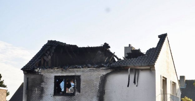 Devastating fire in the home lit: officers found flammable product in the garden