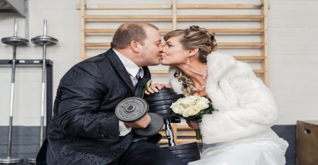 Dream wedding: Tinder combined with the sporty Marin and Amin after 25 years – wedding photos taken in the gym
