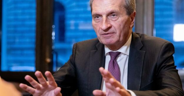 EU-Commissioner Oettinger settles with the European policy of the Federal government