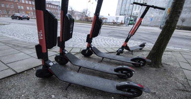 Elsparkcyklar removed in Uppsala during valborg