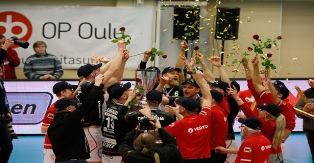 False son's volleyball Finnish champion! Dynasty won third times in a row