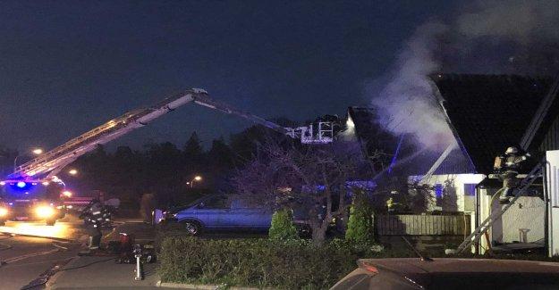 Fierce fire in terraced houses in Huddinge, sweden