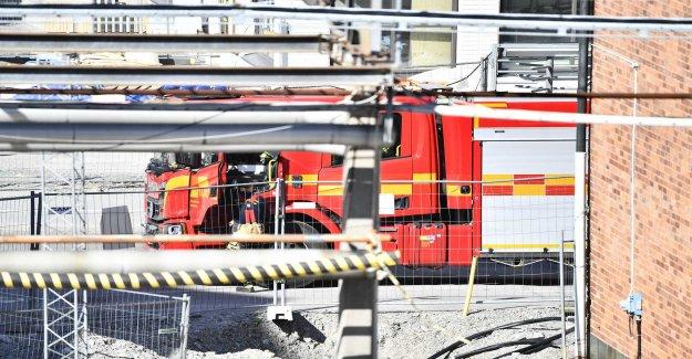 Fire in Norra Djurgårdsstaden – the black smoke seen on hold