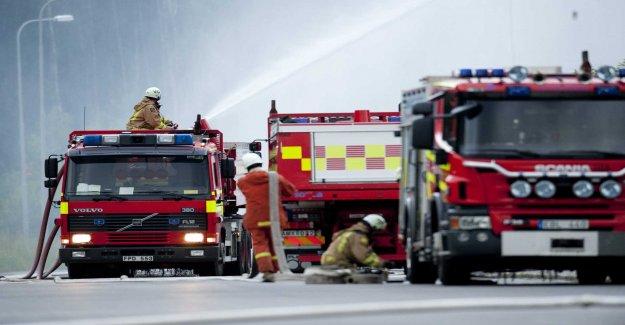 Fire in apartment buildings in Borlänge, sweden