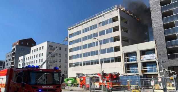 Fire in building in Norra Djurgårdsstaden
