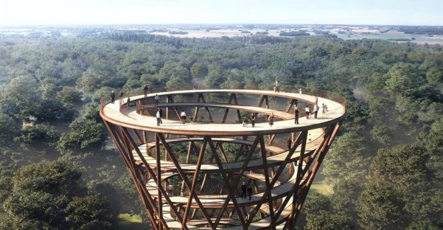 Game tower built in the middle of a Danish forest
