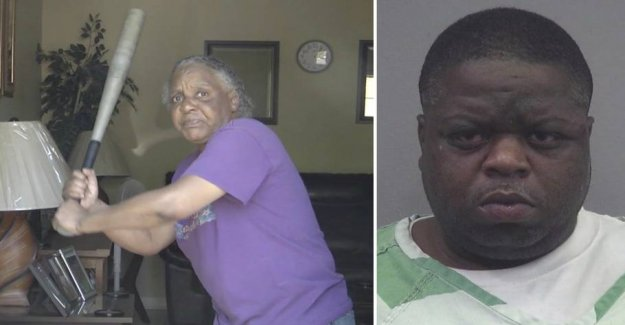 Granny with the punches send naked robber on the run
