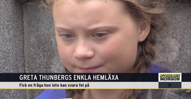 Greta Thunberg cocky answers to the homework