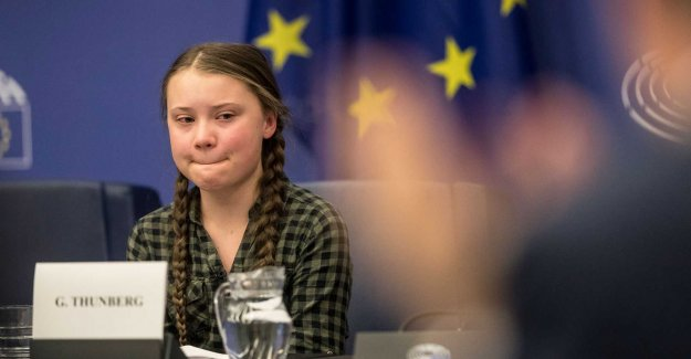 Greta Thunberg in tears during the century in the EU