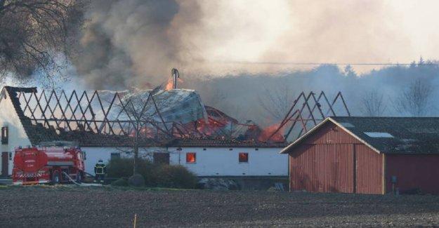 Heavy fire on the farm