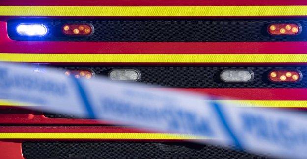 Heavy smoke from skrotbrand in Blekinge