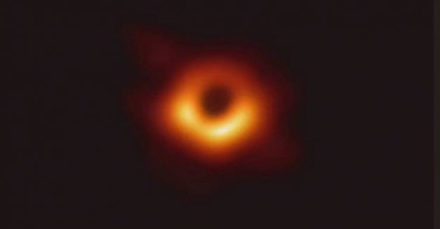 Here is the first image ever of a black hole