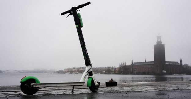 Here it will be p-ban for elsparkcyklar in Stockholm