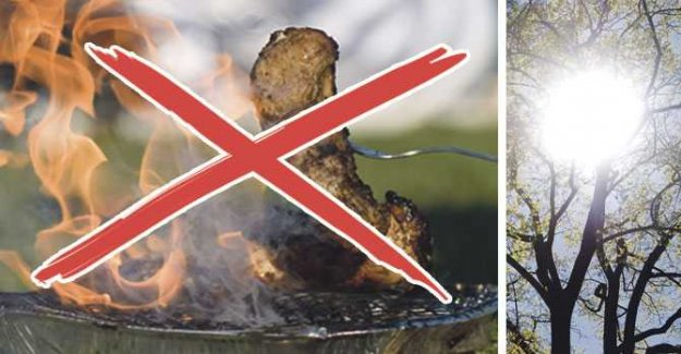Here, you may not roast the passover – eldningsförbud in several municipalities