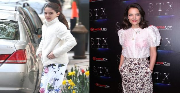 His father abandoned by Suri Cruise meets for 13 years! Just like her mother Katie Holmes lookalike