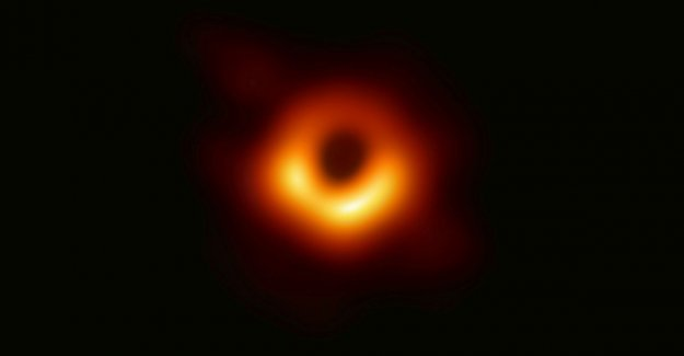 Historical: this is the first picture of a black hole