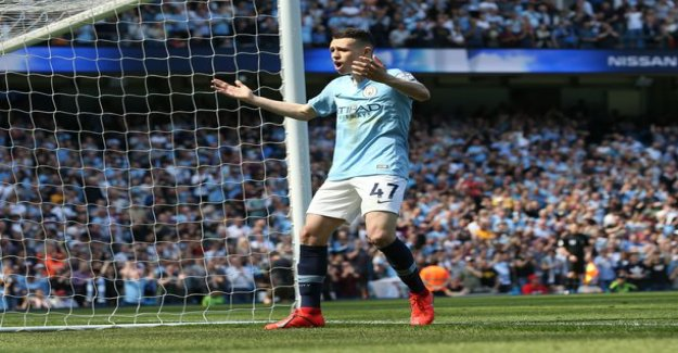In manchester via the main match - City, 18-year-old player's career the opening goal is a top place!