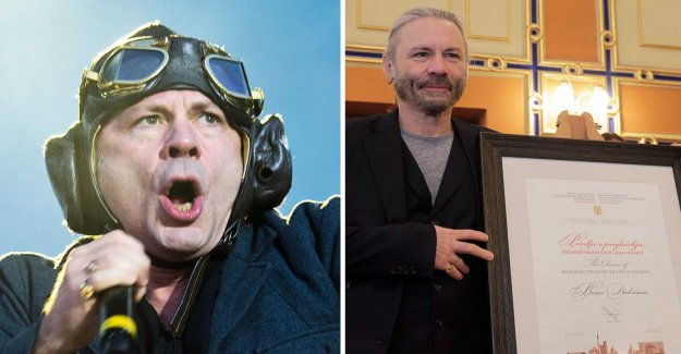 Iron Maiden-the singer becomes an honorary citizen of Sarajevo
