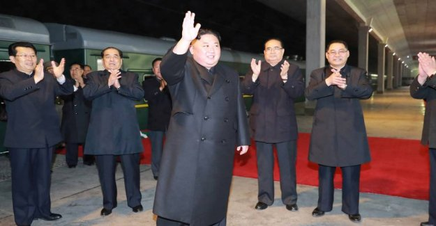 Kim Jong-un on the way by train to Russia