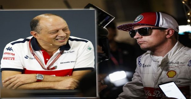 Kimi Raikkonen has set out clear aspirations for the new superior, chuckled sweetly on I Hope he was taking care of that shit