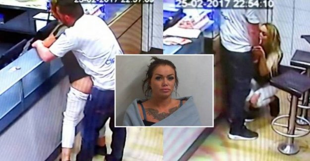 Known for pizzeria-sex: Now she is sentenced for violence against the police