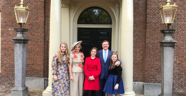 Koningsdag in the Netherlands: queen Maxima wears trendy divided skirt of Belgian fashion house Natan