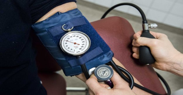 Lower blood pressure at the visit of the nurse