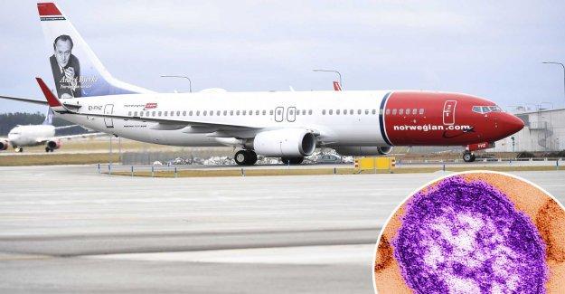 Measles on board the Norwegian plan