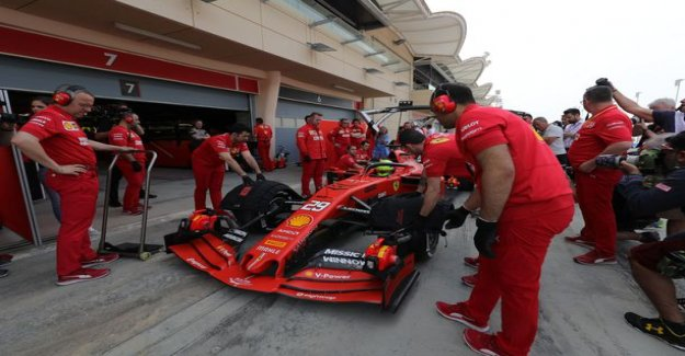 Mick schumacher's first Ferrari test was interrupted in a special way: heavy rain whipped the desert track