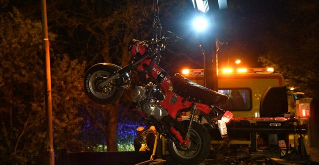 Moped rider died in a serious accident in Oelegem