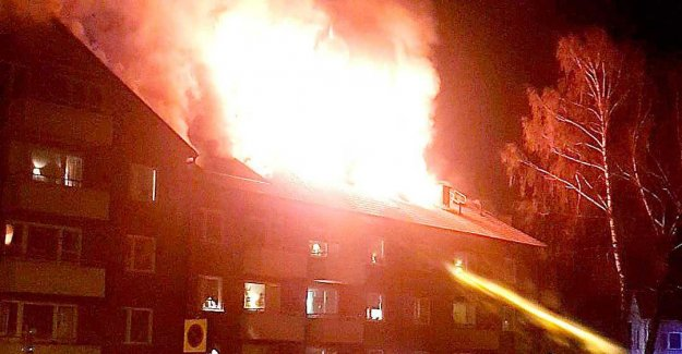 Multi-family in flames – residents evacuated
