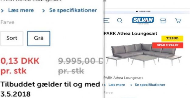 Now is Mohammed annoyed: Bought 300 sofas for 13 ear piece on silvan.dk