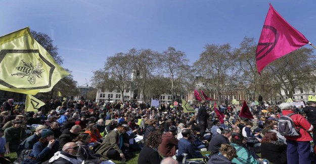 Over 100 arrested after a protest in London
