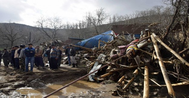 Over 70 villages have been evacuated after rains in Iran